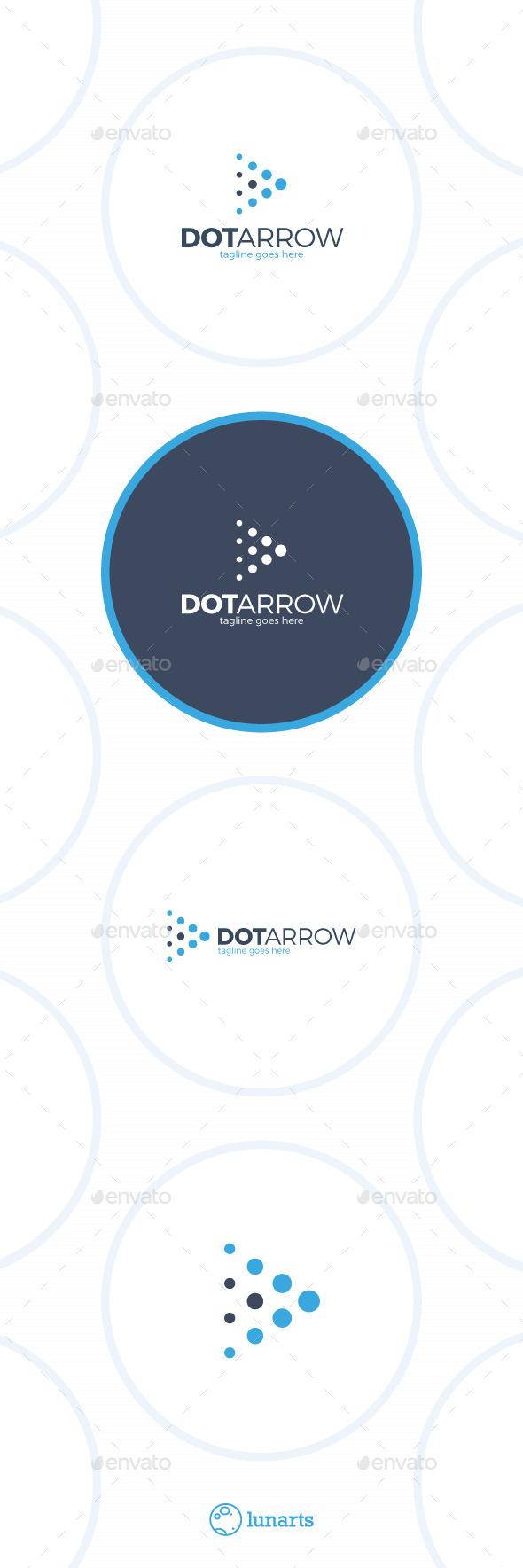 Arrow Dot Logo - Play - Abstract Logo Templates