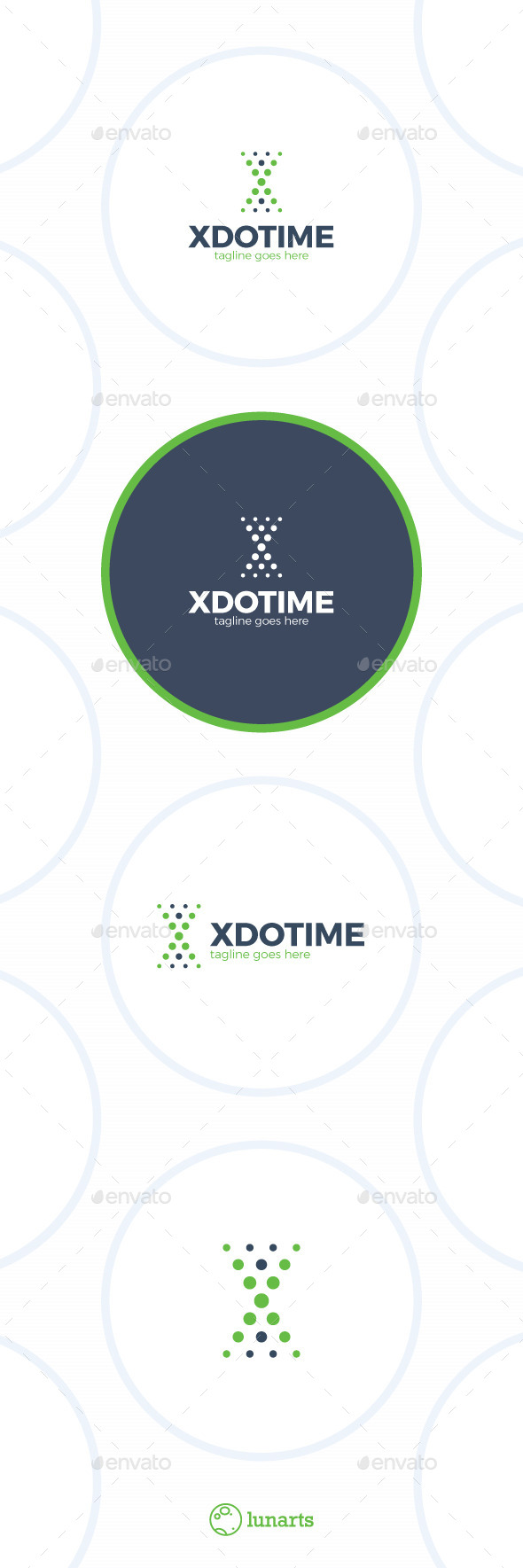 Dot Time Logo Letter X