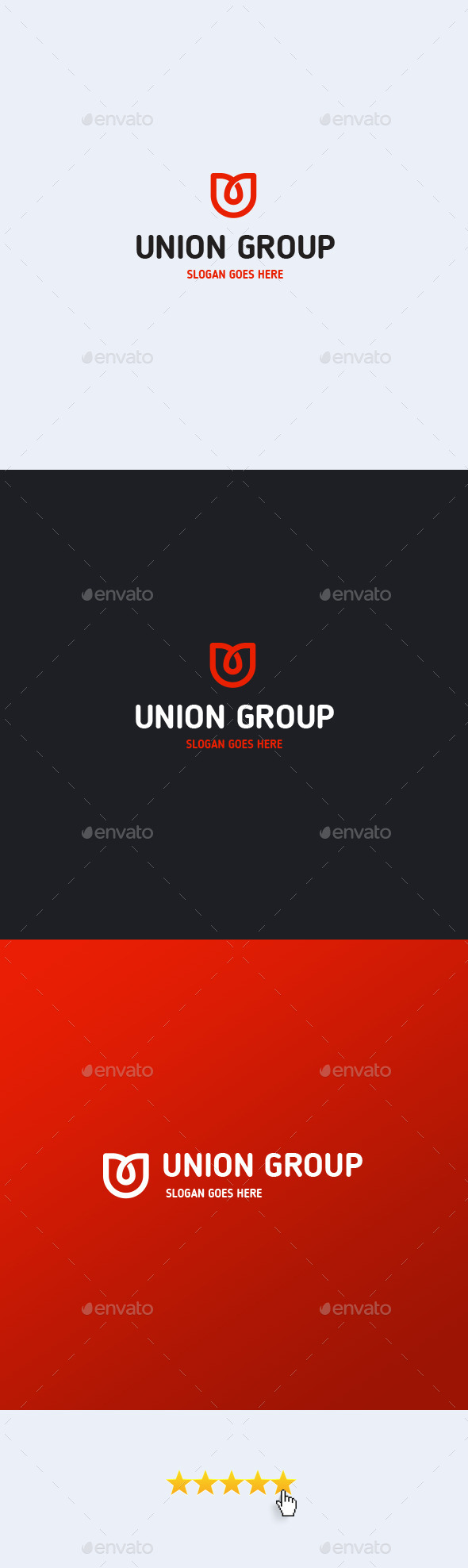 Union Group Letter U Logo Template
