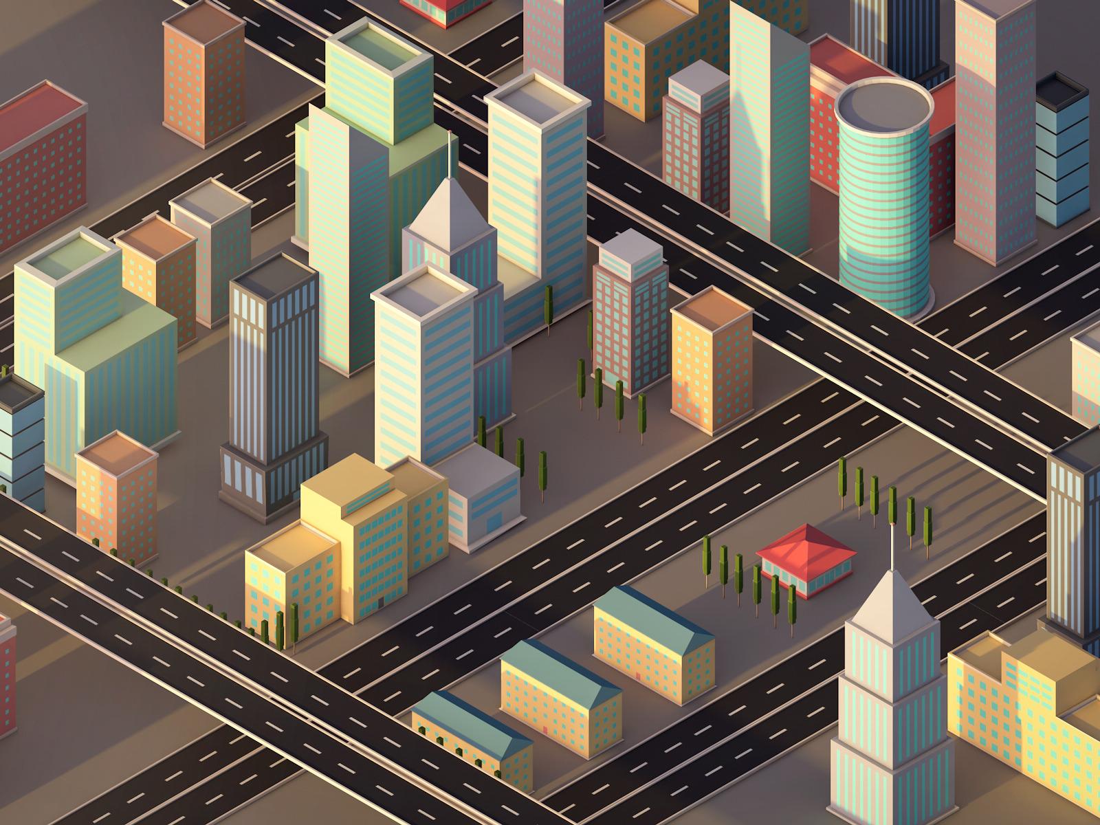 Low Poly City Pack 1 By Antonmoek 3docean