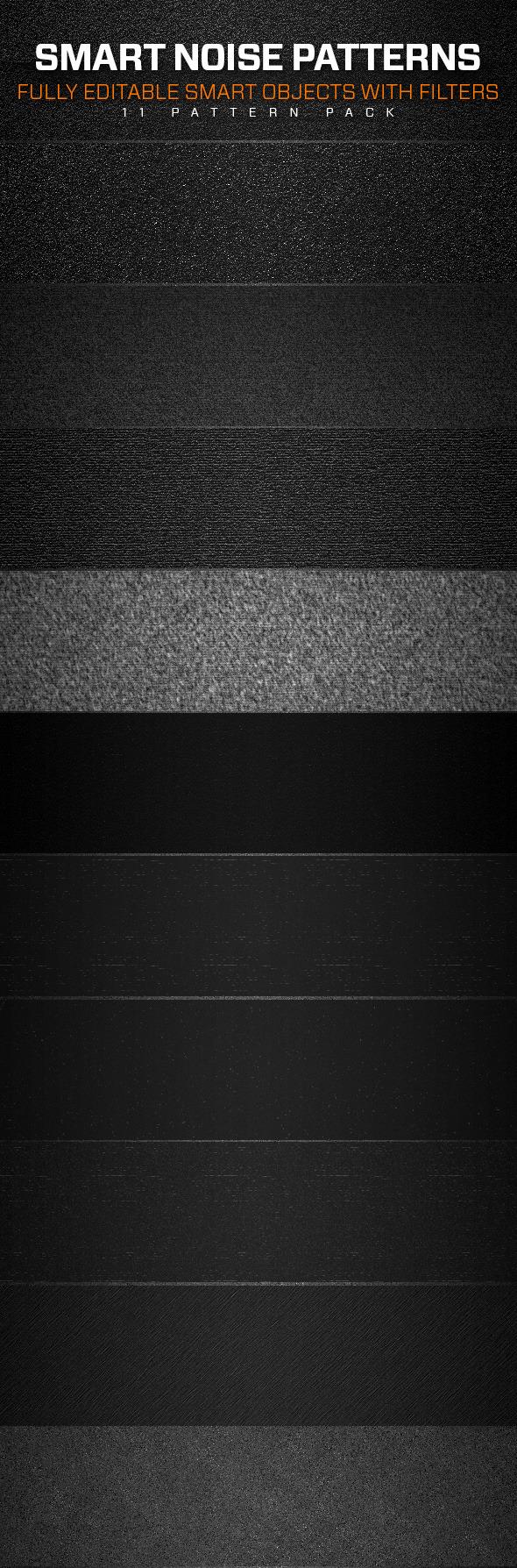 Smart Noise Patterns - Textures / Fills / Patterns Photoshop