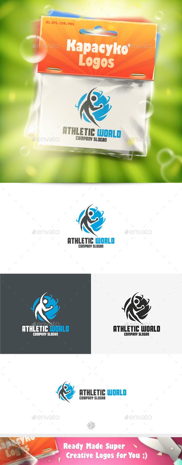Athletic World Logo - Humans Logo Templates