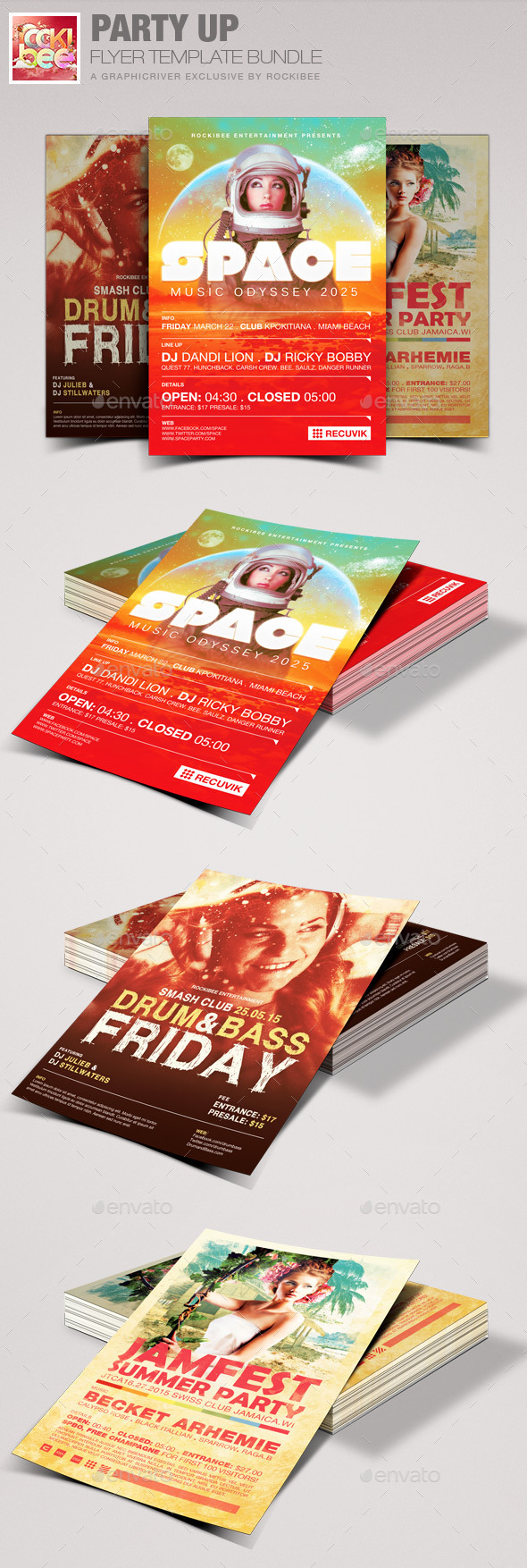 Party Up Flyer Template Bundle - Events Flyers