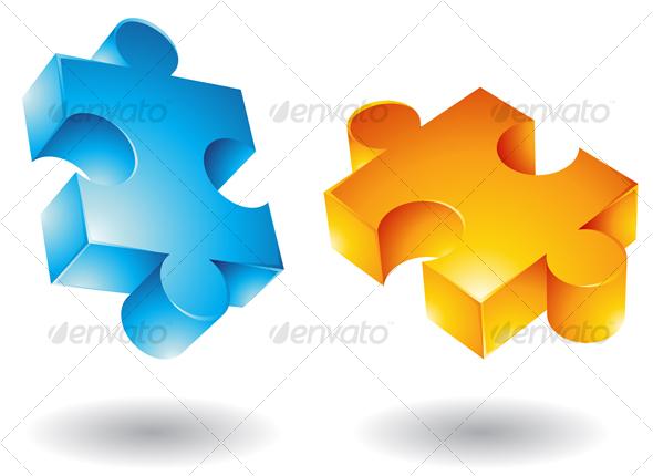 3d jigsaw pieces - Miscellaneous Conceptual