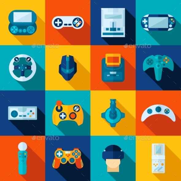 Video Game Icons Set - Technology Icons