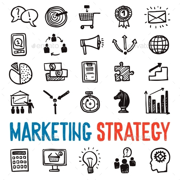 Marketing Strategy Icons Set - Business Icons