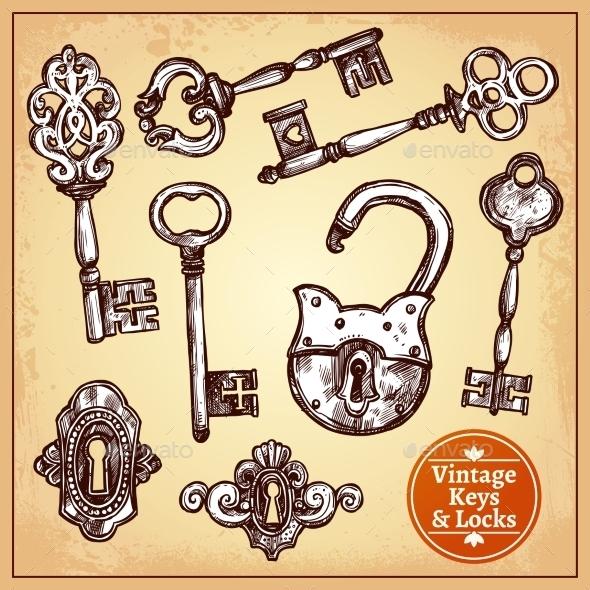 Locks and Keys - Man-made Objects Objects