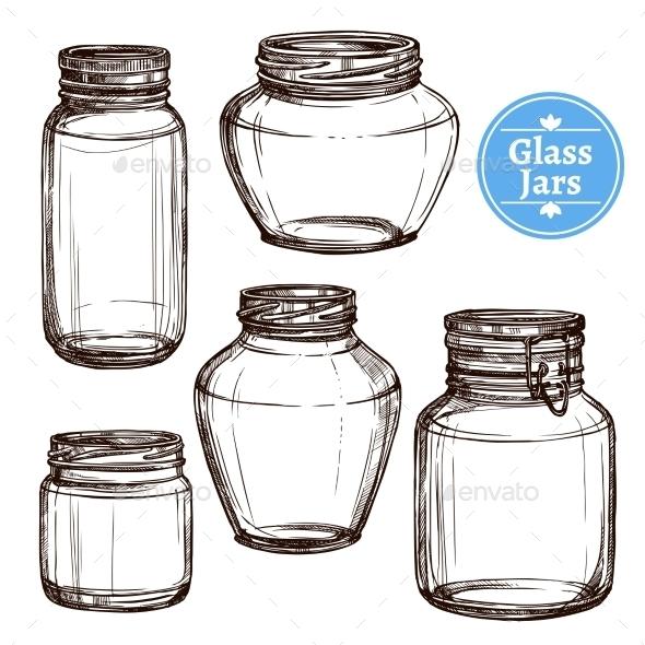 Glass Jars Set - Objects Vectors