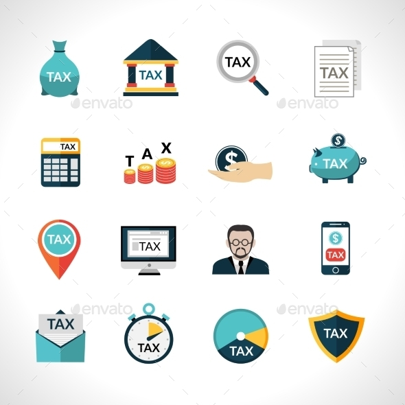 Tax Icons Set - Business Icons