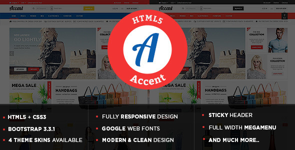 Accent – Responsive Multipurpose HTML5 Template