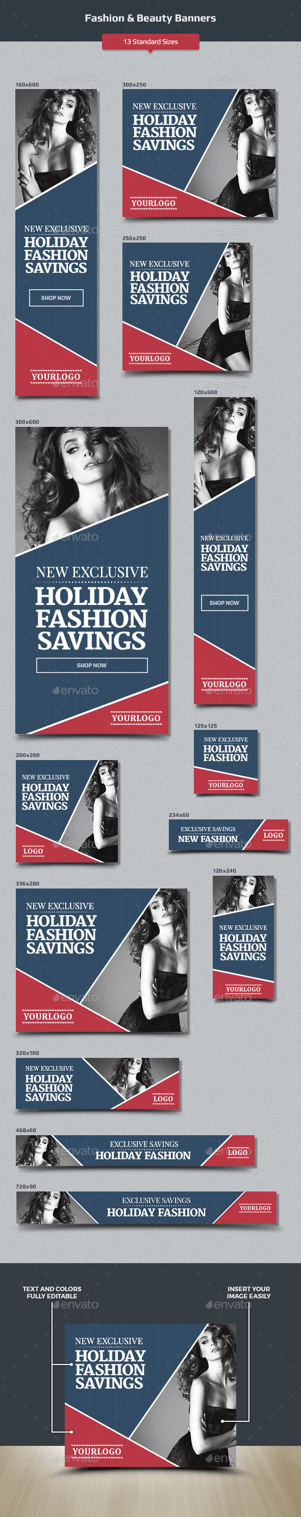 Fashion & Beauty Banners - Banners & Ads Web Elements