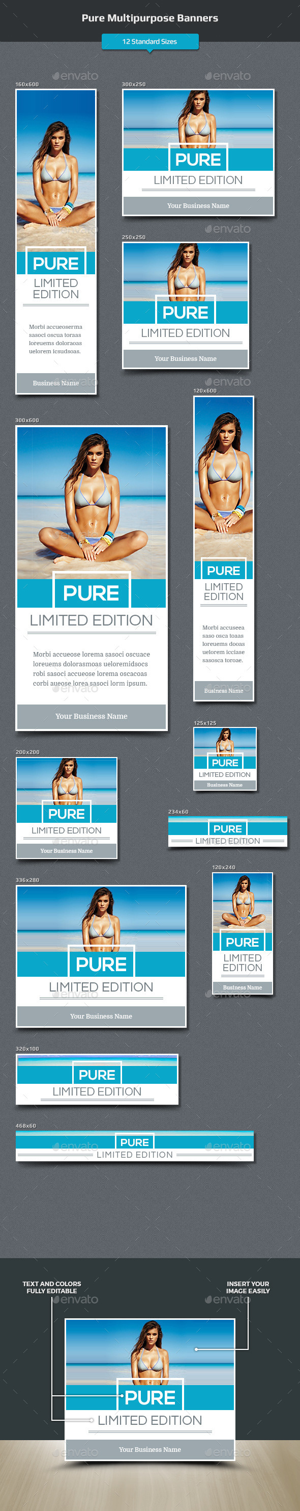 Pure Multipurpose Banners - Banners & Ads Web Elements