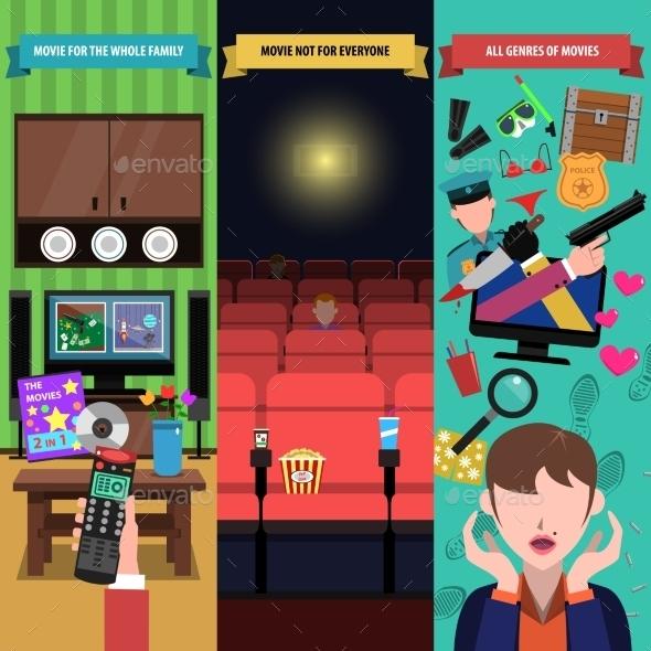 Movies Banner Set - Miscellaneous Vectors