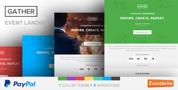 Gather – Event & Conference WP Landing Page Theme