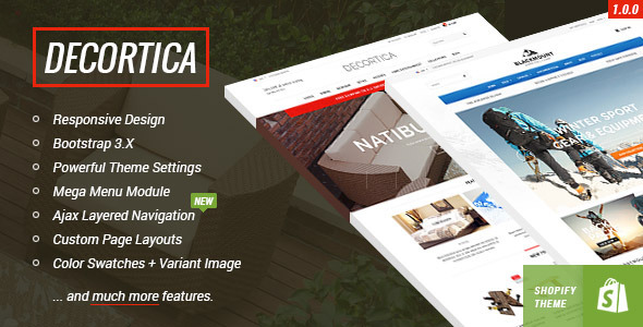 DECORTICA – Responsive Shopify Template