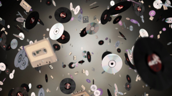 Vinyl Cds And Cassettes Background