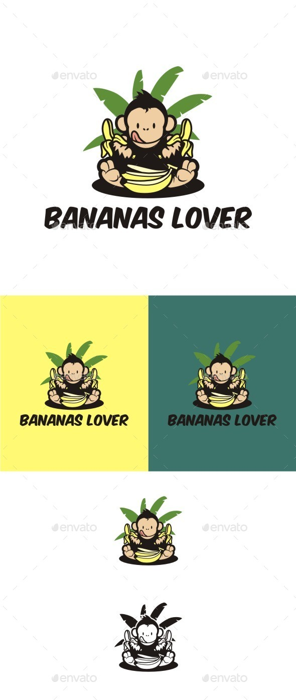 Bananas Lover - Animals Logo Templates