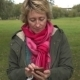 Adult Woman Using Smartphone In The Park - VideoHive Item for Sale