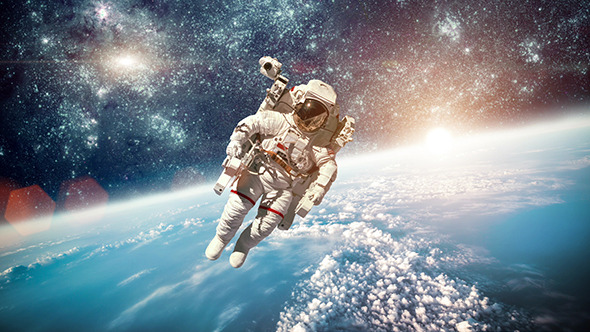Astronaut in outer space by cookelma videohive for Outer space travel