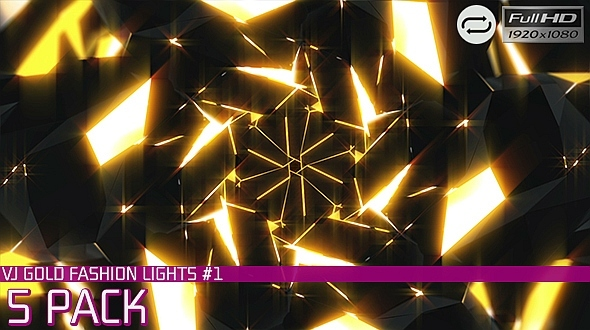VJ Gold Fashion Lights #1 5 Pack