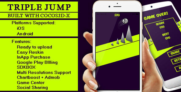 Triple Jump - Cocos2D-X Game for iOS & Android - CodeCanyon Item for Sale