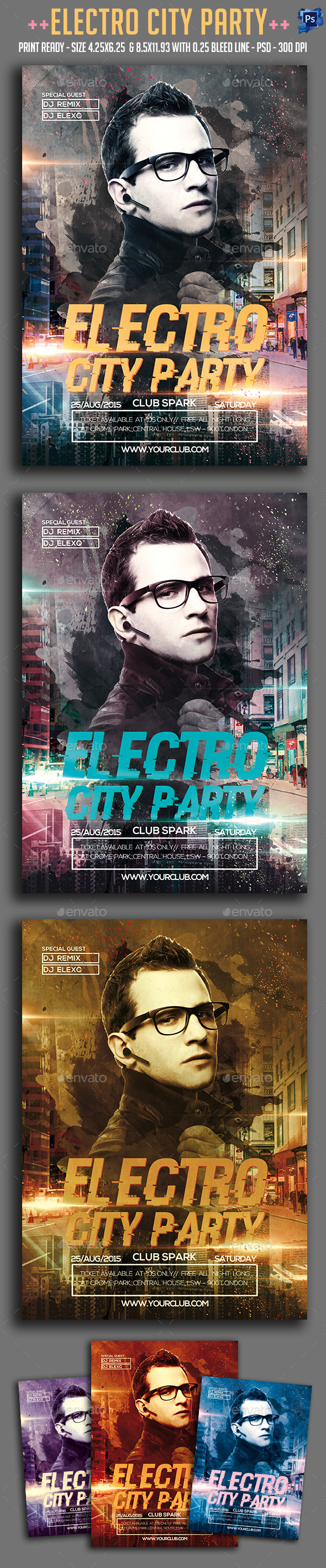 Electro City Party Flyer