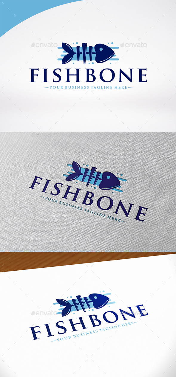 Fish Bone Logo Template - Food Logo Templates