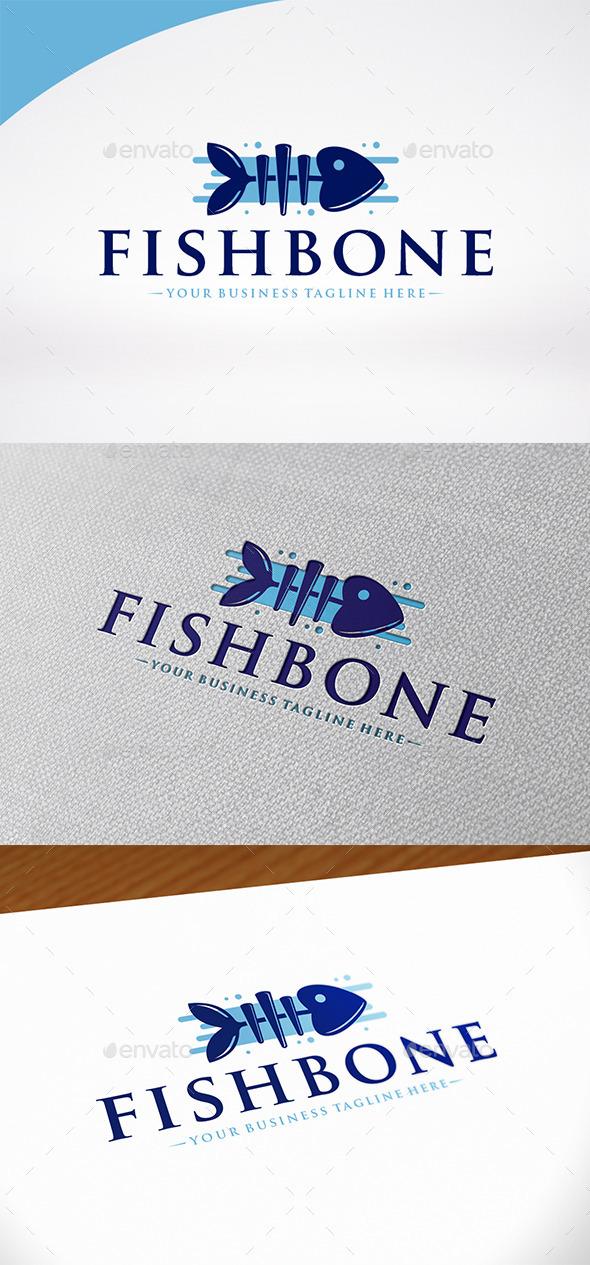 Fish Bone Logo Template