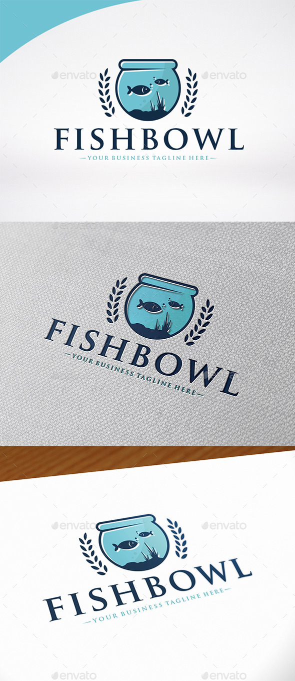 Fish Bowl Logo Template - Animals Logo Templates