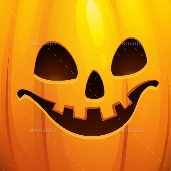 Funny Halloween Greeting Card Vector Illustration