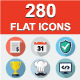 280 Flat Web icons. - GraphicRiver Item for Sale