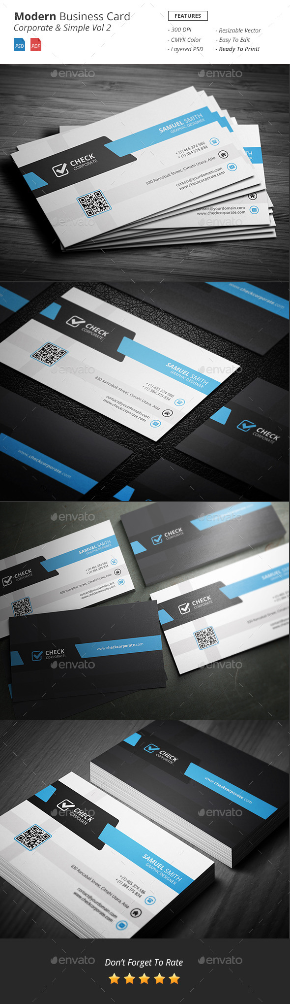 Modern Corporate Business Card Vol 2