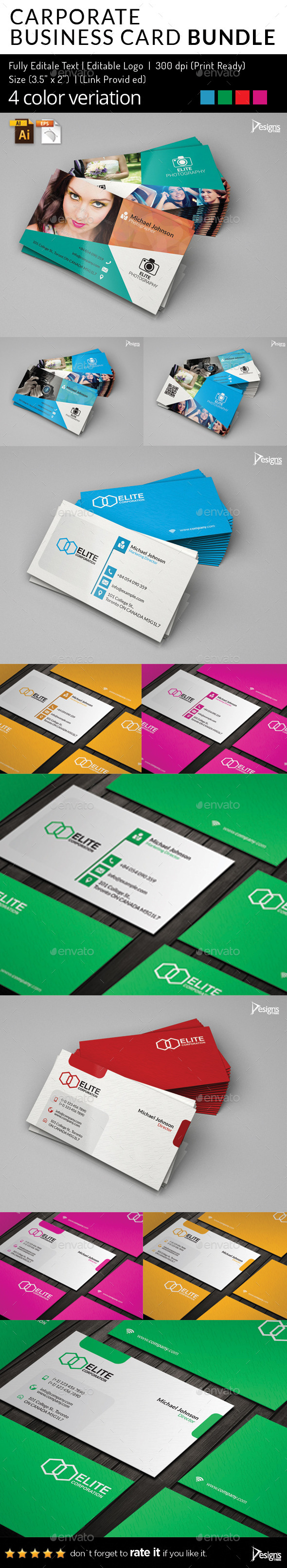 Business Card Pack - Business Cards Print Templates