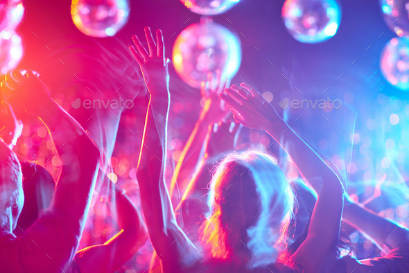 Dancing crowd - Stock Photo - Images