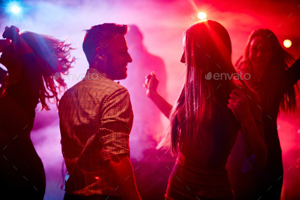 Happy dancers - Stock Photo - Images