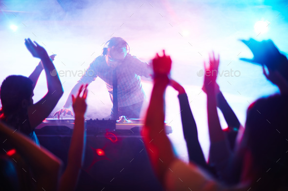 Energetic deejay - Stock Photo - Images