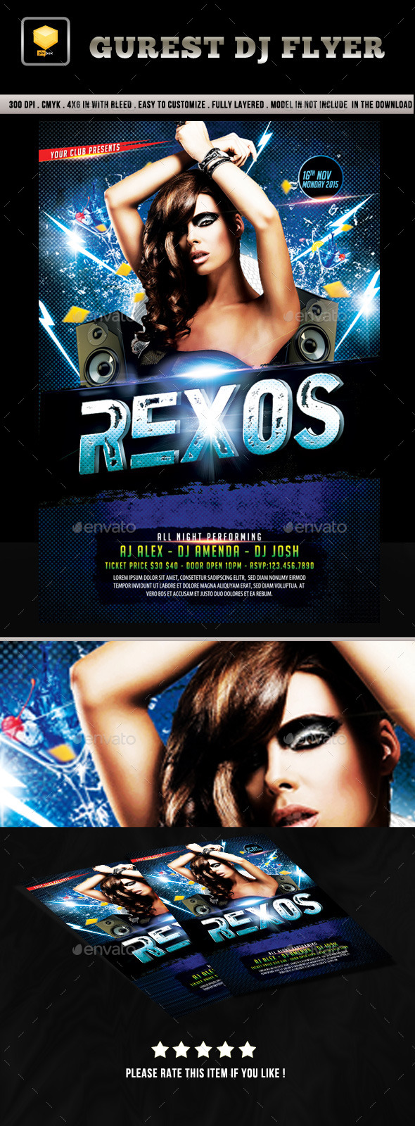 Female DJ Flyer - Clubs & Parties Events