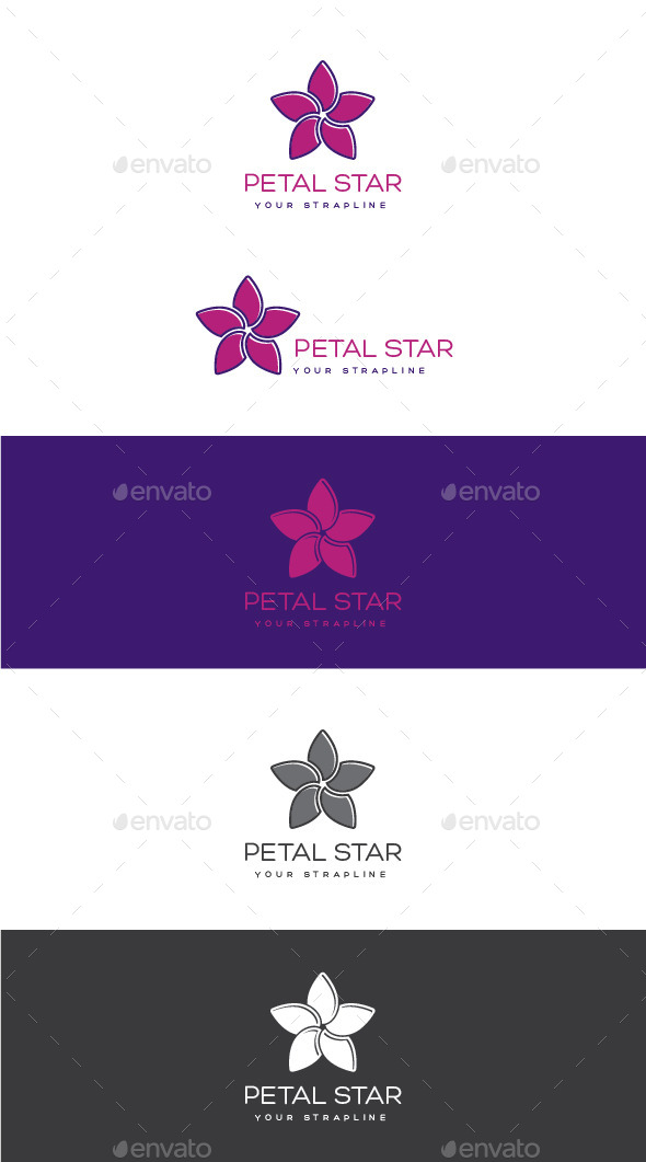 Petal Star Logo - Nature Logo Templates