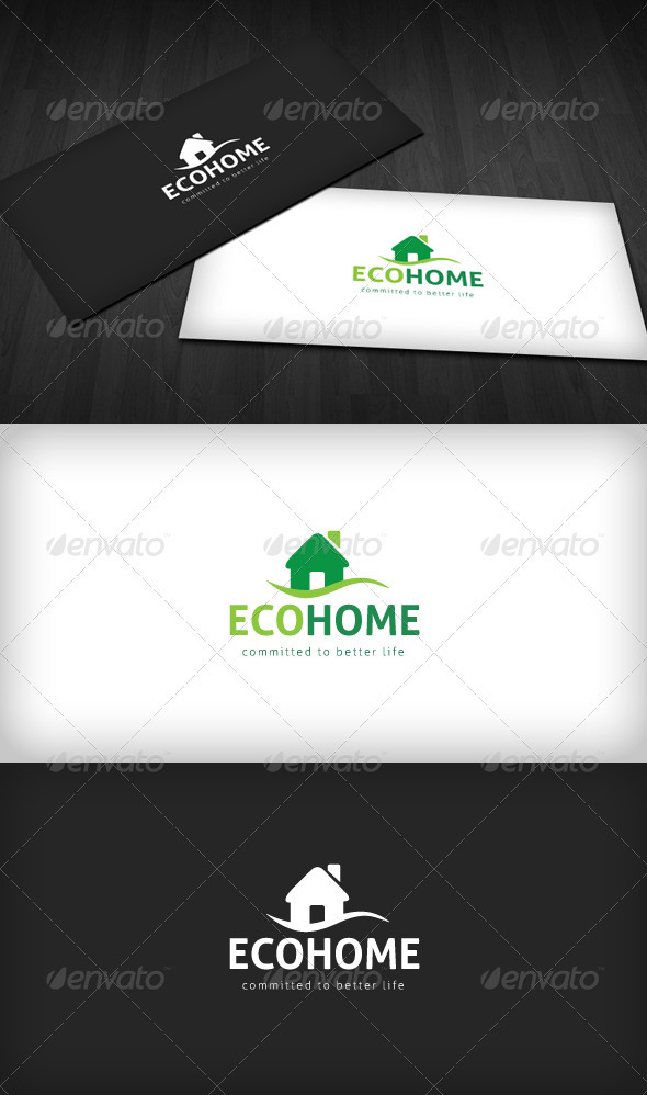 Eco Home Logo - Buildings Logo Templates