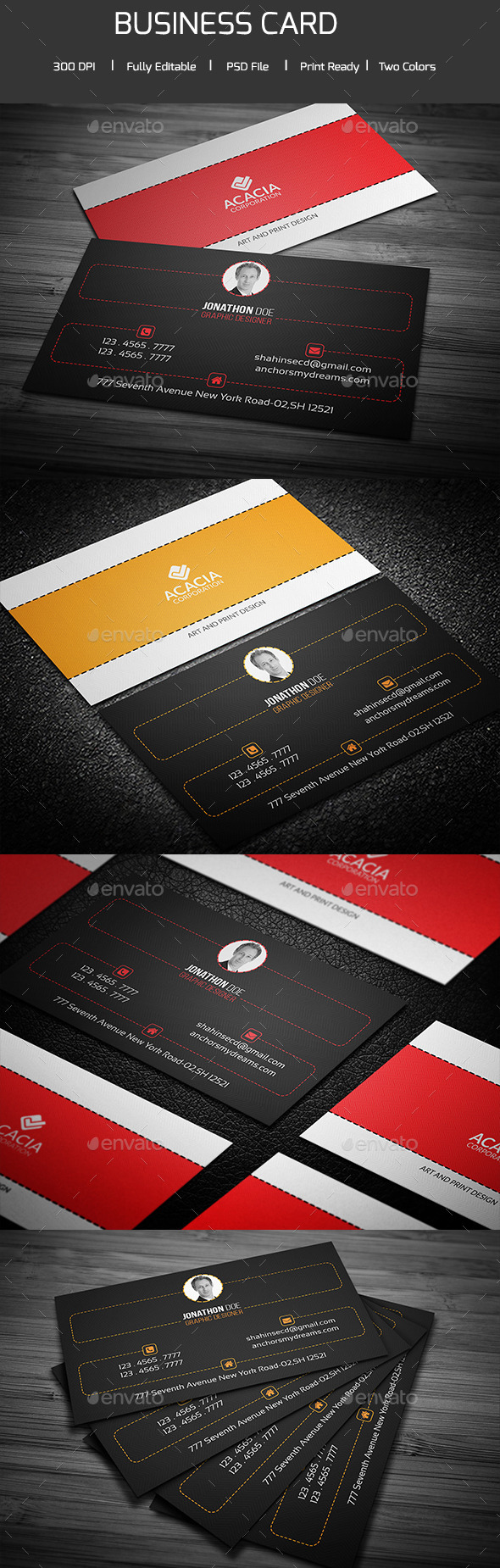 Simple and Clean Business Card V-03 - Corporate Business Cards