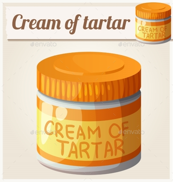 Cream Of Tartar Detailed Vector Icon