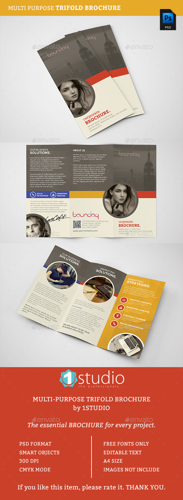 Trifold Brochure 07 - Business - Corporate Brochures