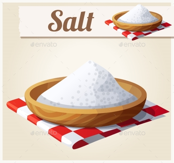 Salt. Detailed Vector Icon - Food Objects