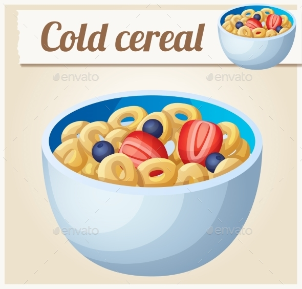 Cold Cereal Detailed Vector Icon