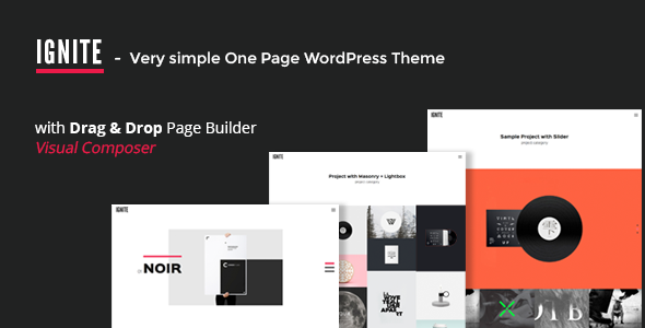 IGNITE – Simple One Page Creative WordPress Theme