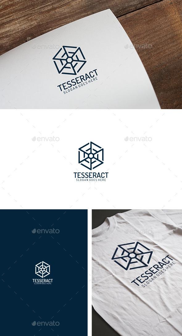 Tesseract Cube Logo - Logo Templates