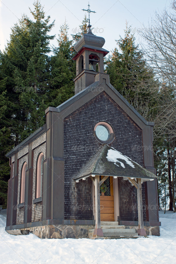 Small chapel in the Black Forest - Stock Photo - Images