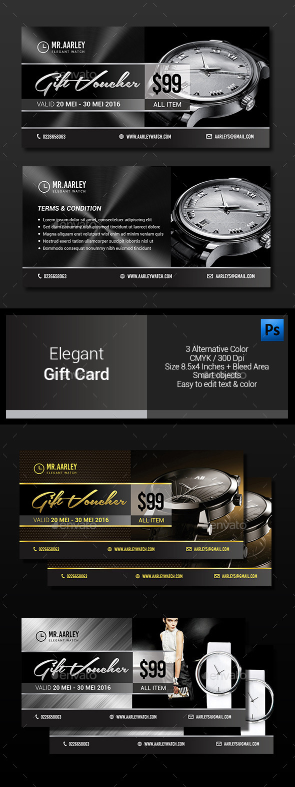 Elegant Gift Card - Loyalty Cards Cards & Invites