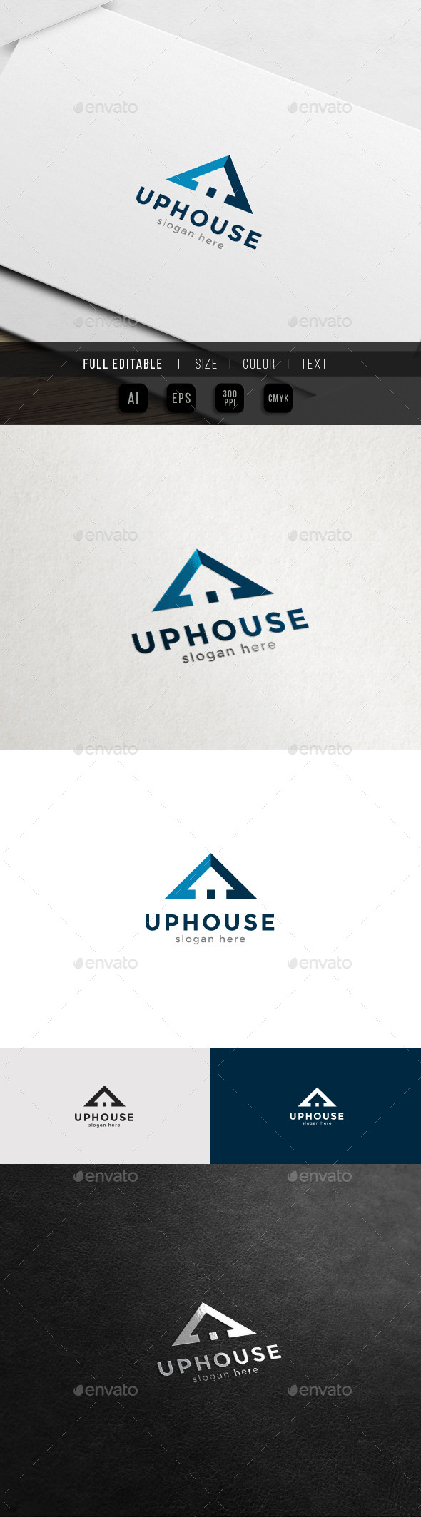Up Home - Property and Real Estate Logo - Objects Logo Templates