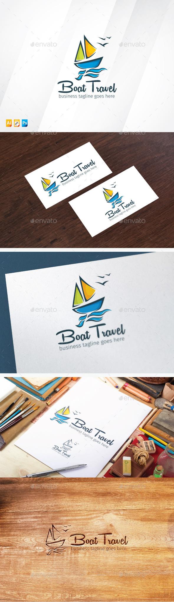 Boat Travel Logo - Objects Logo Templates
